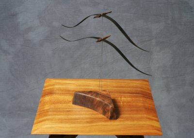 Birds in Flight - Ebony, Walnut and Bubinga