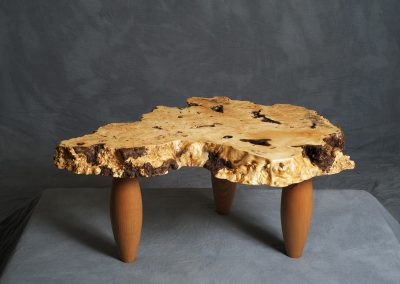 Buckeye Burl Table with Cherry legs