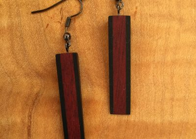 Earrings Bubinga & Ebony 1 1:2 x 1:4