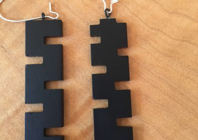 Earrings - Jagged Ebony