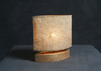 Small Lamp made with Tiger Maple and Washi paper