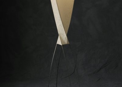 Tall Lamp made with Tiger Maple, wire and Washi paper