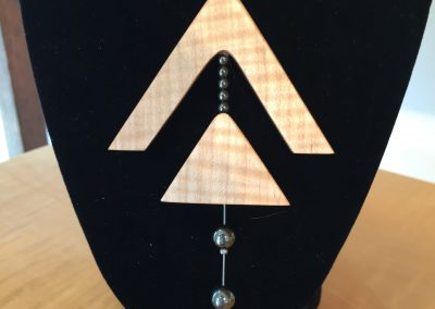 Necklace - Maple Ebony & Hematite
