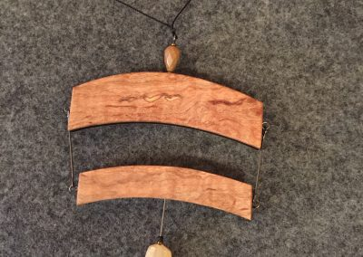 Necklace - Maple & Ebony with Peach Moonstone & Jasper