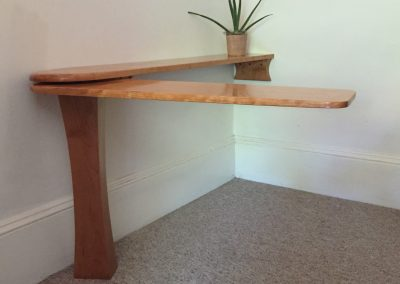 Desk with Swing Arm Open made with Cherry